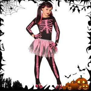 Other - NWT Pink Skeleton Girl's Halloween Costume